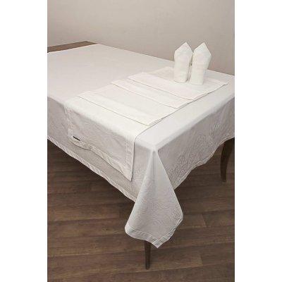 Σετ Πετσέτες Φαγητού 53x53 - AnnaRiska - 2410 - White | Πετσέτες Φαγητού | DressingHome