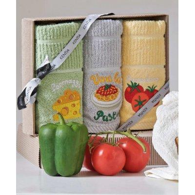 Σετ Πετσέτες Κουζίνας 3 τμχ 40x70 - Kentia - Regalo 183 | Ποτηρόπανα | DressingHome