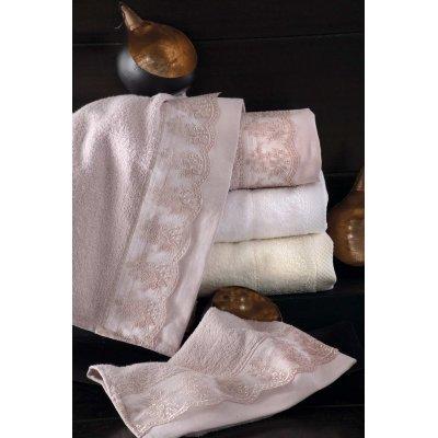 Σετ Πετσέτες 3 τμχ - Rythmos - Helga - Ροζ | Πετσέτες | DressingHome