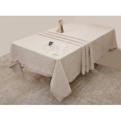 Σετ Ράνερ 2 τμχ 50x150 - AnnaRiska - Lace Collection - 2331 / Ivory / Εκρού | Σεμέν - Ράνερ - Τραβέρσες | DressingHome