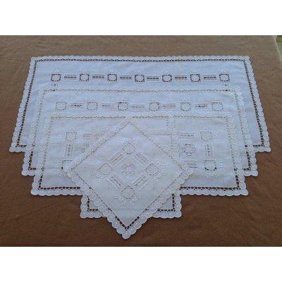 Σετ Σεμέν 6 τμχ Κεντητό 1(84x37) 1(31x71) 2(41x28) 2(27x27) - DressingHome - Βυζαντινό MIE217 | Σεμέν - Ράνερ - Τραβέρσες | DressingHome