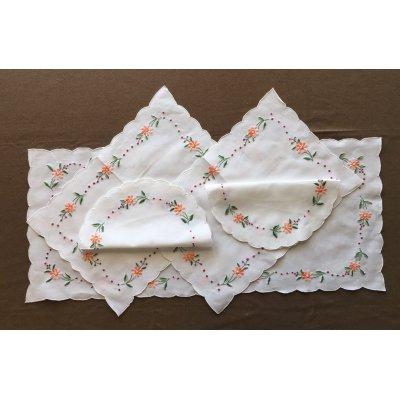 Σετ Σεμέν 5 τμχ Κεντητό Χειρός 1(31x71) 2(41x28) 2(27x27) - DressingHome - SE-77 | Σεμέν - Ράνερ - Τραβέρσες | DressingHome