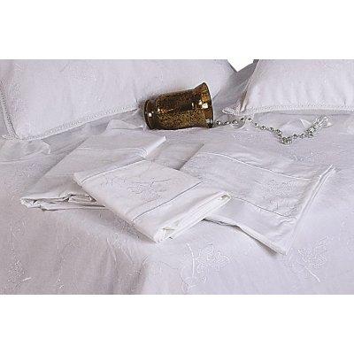 Σετ Σεντόνια 4 τμχ Υπέρδιπλα (Χωρίς Λάστιχο) 240x260 - Viopros - 1012 - Λευκό | Σεντόνια Νυφικά | DressingHome