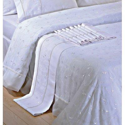 Σετ Σεντόνια 4 τμχ Υπέρδιπλα (Χωρίς Λάστιχο) 240x260 - Viopros - 1016 - Λευκό | Σεντόνια Νυφικά | DressingHome