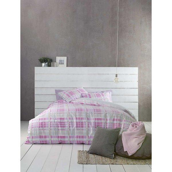 Σετ Σεντόνια 4 τμχ Υπέρδιπλα (Χωρίς Λάστιχο) 240x260 - Nima Home - Melville - Pink | Σετ Σεντόνια | DressingHome