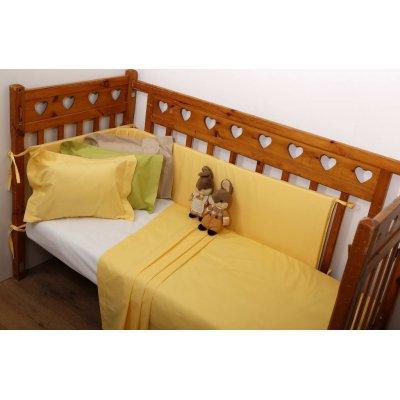 Σετ Σεντόνια 2 τμχ Λίκνου 80x100 - AnnaRiska - Baby Prestige - 11 - Yellow | Σετ Σεντονάκια | DressingHome