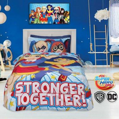 Σετ Σεντόνια 3 τμχ Μονά (Χωρίς Λάστιχο) 160x260 - Das Baby - Cartoon Line Prints - Super Hero Girls 5005 | Σετ Σεντόνια | DressingHome