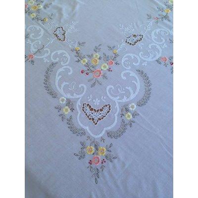 Σετ Τραπεζομάντηλο κεντητό με 12 πετσέτες 180x260 - DressingHome - Οπαλίνα C | Τραπεζομάντηλα | DressingHome