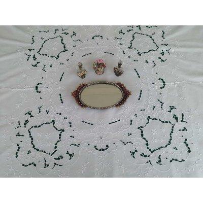 Σετ Τραπεζομάντηλο Ροτόντα κεντητό κοφτό με 8 πετσέτες 170x170 - DressingHome - Α1284 | Τραπεζομάντηλα | DressingHome