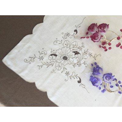 Σετ Τραπεζομάντηλο Κεντητό με 12 πετσέτες 180x260 - DressingHome - 20581 - Μπεζ   Τραπεζομάντηλα   DressingHome