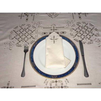 Σετ Τραπεζομάντηλο κεντητό με 6 πετσέτες 125x170 - DressingHome - E86027 | Τραπεζομάντηλα | DressingHome
