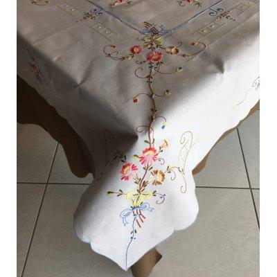 Σετ Τραπεζομάντηλο κεντητό με 6 πετσέτες 130x170 - DressingHome - 17602 - Σιέλ | Τραπεζομάντηλα | DressingHome