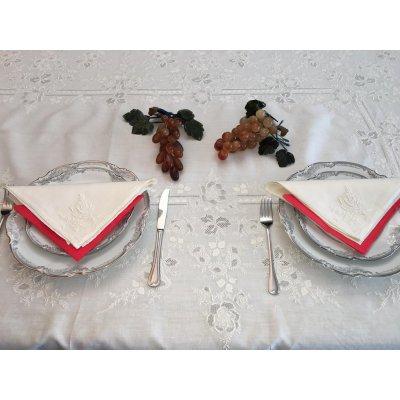 Σετ Τραπεζομάντηλο Λινό κεντητό με 12 πετσέτες 175x260 - DressingHome - 5247   Τραπεζομάντηλα   DressingHome