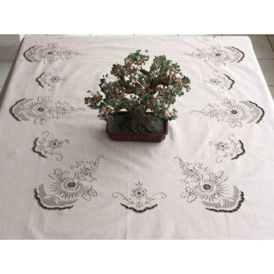 Σετ Τραπεζομάντηλο Οβάλ κεντητό με 12 πετσέτες 175x260 - DressingHome - SG291 | Τραπεζομάντηλα | DressingHome