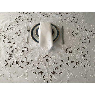 Σετ Τραπεζομάντηλο Ροτόντα κεντητό κοφτό με 8 πετσέτες 170x170 - DressingHome - A1290 | Τραπεζομάντηλα | DressingHome